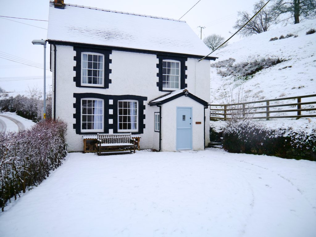Glan y Wern in the snow