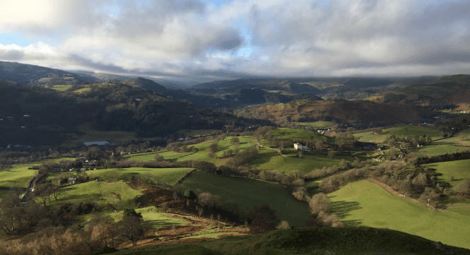 View from Dinas Bran