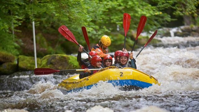 Rafting at Bala