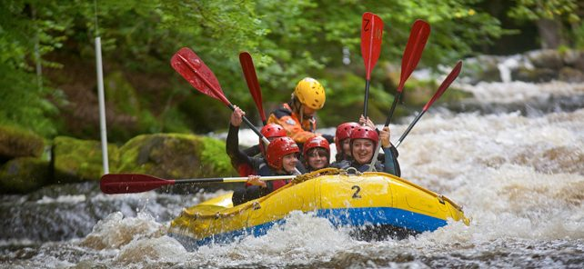 White water rafting at Bala