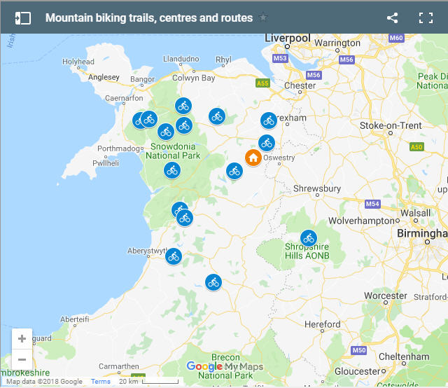 Mountain biking trails in North Wales