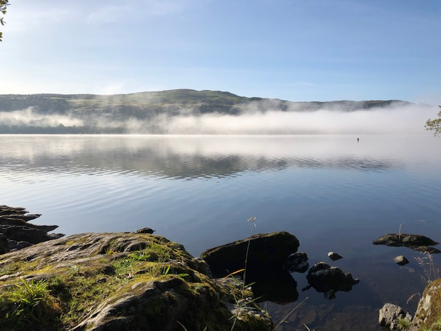 Early morning mist over Bala Lake